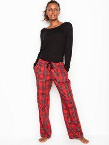baa1747ad0e30 Пижама Victoria's Secret топ с длинным рукавом и фланелевые штаны