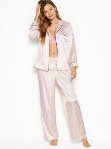 Сатиновая пижама Satin Long PJ Set Victoria's Secret